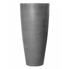 Кашпо Pottery Pots Fiberstone dax grey, серого цвета XL размер  Диаметр — 47 см