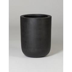 Кашпо Pottery Pots Fiberstone dice black, чёрного цвета L размер  Диаметр — 34 см