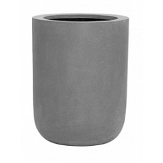 Кашпо Pottery Pots Fiberstone dice grey, серого цвета L размер  Диаметр — 34 см