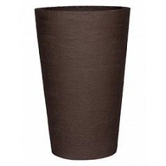 Кашпо Pottery Pots Fiberstone earth belle l, тёмно-коричневого цвета  Диаметр — 60 см