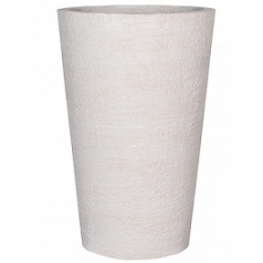 Кашпо Pottery Pots Fiberstone earth belle l, off white, белого цвета  Диаметр — 60 см