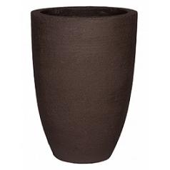 Кашпо Pottery Pots Fiberstone earth ben xl, тёмно-коричневого цвета  Диаметр — 52 см