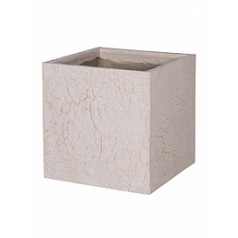 Кашпо Pottery Pots Fiberstone earth block l, sundried white, белого цвета Длина — 50 см