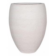 Кашпо Pottery Pots Fiberstone earth bond l, off white, белого цвета  Диаметр — 68 см