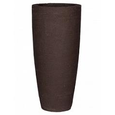 Кашпо Pottery Pots Fiberstone earth dax l, тёмно-коричневого цвета  Диаметр — 37 см
