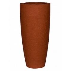 Кашпо Pottery Pots Fiberstone earth dax l, desert red, красного цвета  Диаметр — 37 см