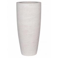 Кашпо Pottery Pots Fiberstone earth dax l, off white, белого цвета  Диаметр — 37 см