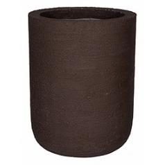 Кашпо Pottery Pots Fiberstone earth dice xl, тёмно-коричневого цвета  Диаметр — 45 см
