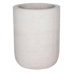 Кашпо Pottery Pots Fiberstone earth dice xl, off white, белого цвета  Диаметр — 45 см
