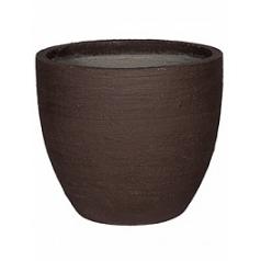 Кашпо Pottery Pots Fiberstone earth jesslyn m, тёмно-коричневого цвета  Диаметр — 60 см