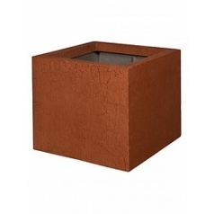 Кашпо Pottery Pots Fiberstone earth jumbo m, sundried red, красного цвета Длина — 70 см