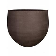Кашпо Pottery Pots Fiberstone earth jumbo orb l, тёмно-коричневого цвета  Диаметр — 133 см