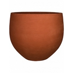 Кашпо Pottery Pots Fiberstone earth jumbo orb l, desert red, красного цвета  Диаметр — 133 см