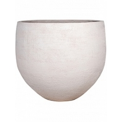 Кашпо Pottery Pots Fiberstone earth jumbo orb l, off white, белого цвета  Диаметр — 133 см