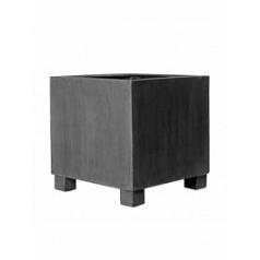 Кашпо Pottery Pots Fiberstone jumbo grey, серого цвета M размер Длина — 70 см
