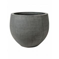 Кашпо Pottery Pots Fiberstone jumbo grey, серого цвета orb M размер  Диаметр — 110 см