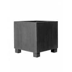 Кашпо Pottery Pots Fiberstone jumbo grey, серого цвета S размер Длина — 50 см