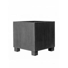 Кашпо Pottery Pots Fiberstone jumbo grey, серого цвета XL размер Длина — 110 см