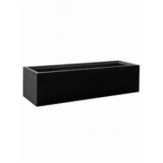Кашпо Pottery Pots Fiberstone jumbo jort black, чёрного цвета M размер Длина — 200 см