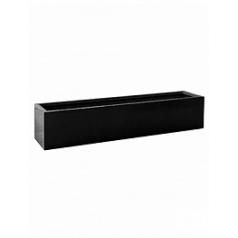 Кашпо Pottery Pots Fiberstone jumbo jort black, чёрного цвета S размер Длина — 200 см