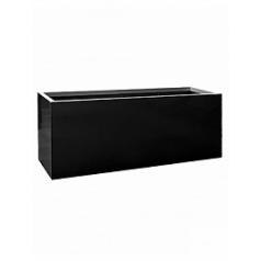 Кашпо Pottery Pots Fiberstone jumbo jort black, чёрного цвета XL размер Длина — 200 см