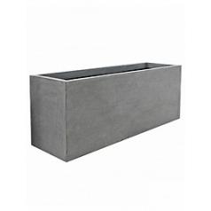 Кашпо Pottery Pots Fiberstone jumbo jort grey, серого цвета XL размер Длина — 200 см