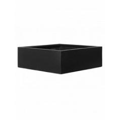 Кашпо Pottery Pots Fiberstone jumbo low black, чёрного цвета M размер Длина — 73 см