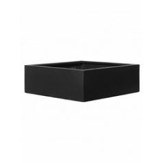 Кашпо Pottery Pots Fiberstone jumbo low black, чёрного цвета S размер Длина — 60 см