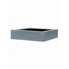 Кашпо Pottery Pots Fiberstone jumbo low grey, серого цвета XL размер Длина — 100 см