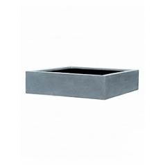 Кашпо Pottery Pots Fiberstone jumbo low grey, серого цвета XXL размер Длина — 140 см