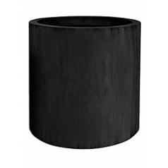 Кашпо Pottery Pots Fiberstone jumbo max black, чёрного цвета L размер  Диаметр — 90 см