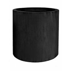 Кашпо Pottery Pots Fiberstone jumbo max black, чёрного цвета M размер  Диаметр — 70 см