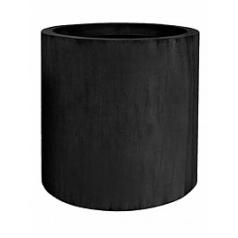 Кашпо Pottery Pots Fiberstone jumbo max black, чёрного цвета XL размер  Диаметр — 110 см