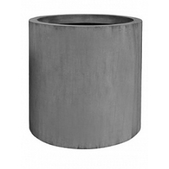 Кашпо Pottery Pots Fiberstone jumbo max grey, серого цвета L размер  Диаметр — 90 см