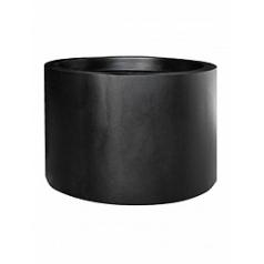 Кашпо Pottery Pots Fiberstone jumbo max middle high black, чёрного цвета L размер  Диаметр — 90 см