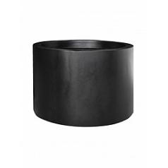 Кашпо Pottery Pots Fiberstone jumbo max middle high black, чёрного цвета M размер  Диаметр — 70 см