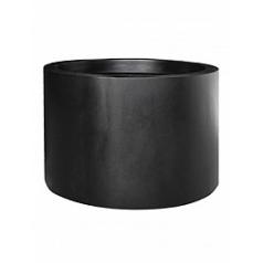 Кашпо Pottery Pots Fiberstone jumbo max middle high black, чёрного цвета XL размер  Диаметр — 110 см