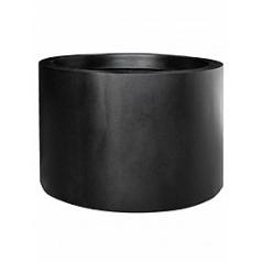 Кашпо Pottery Pots Fiberstone jumbo max middle high black, чёрного цвета XXL размер  Диаметр — 140 см