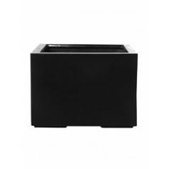 Кашпо Pottery Pots Fiberstone jumbo middle high black, чёрного цвета L размер Длина — 90 см