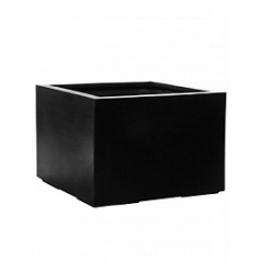 Кашпо Pottery Pots Fiberstone jumbo middle high black, чёрного цвета XL размер Длина — 110 см