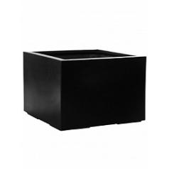 Кашпо Pottery Pots Fiberstone jumbo middle high black, чёрного цвета XXL размер Длина — 140 см