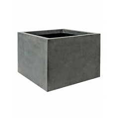 Кашпо Pottery Pots Fiberstone jumbo middle high grey, серого цвета L размер Длина — 90 см
