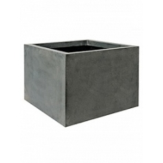 Кашпо Pottery Pots Fiberstone jumbo middle high grey, серого цвета XXL размер Длина — 140 см