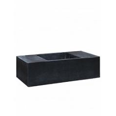 Кашпо Pottery Pots Fiberstone jumbo с лавкойing black, чёрного цвета XXXL размер Длина — 200 см