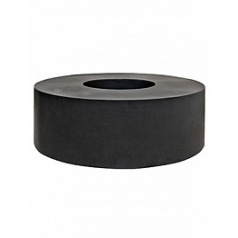 Кашпо Pottery Pots Fiberstone jumbo с лавкойing fender black, чёрного цвета  Диаметр — 140 см