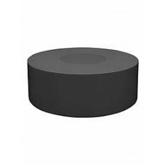 Кашпо Pottery Pots Fiberstone jumbo с лавкойing fender grey, серого цвета  Диаметр — 140 см