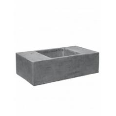 Кашпо Pottery Pots Fiberstone jumbo с лавкойing grey, серого цвета XXL размер Длина — 150 см