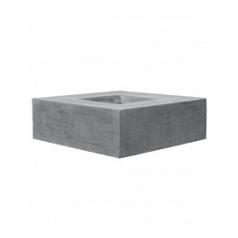 Кашпо Pottery Pots Fiberstone jumbo с лавкойing grey, серого цвета Длина — 140 см