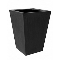 Кашпо Pottery Pots Fiberstone jumbo thom black, чёрного цвета L размер Длина — 88 см