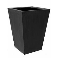 Кашпо Pottery Pots Fiberstone jumbo thom black, чёрного цвета XL размер Длина — 110 см